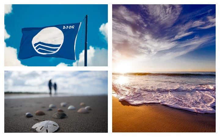 Пляж голубой флаг
