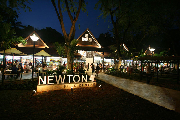 Центр уличной еды Сингапура - Newton food centre