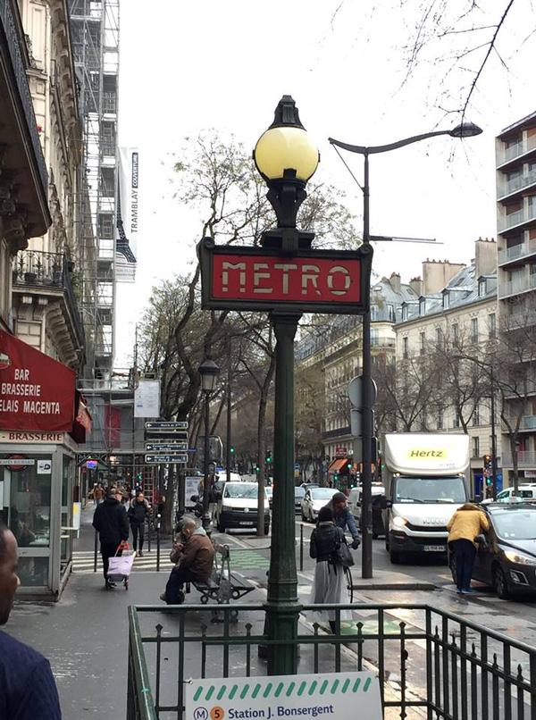 Метро Парижа указатель