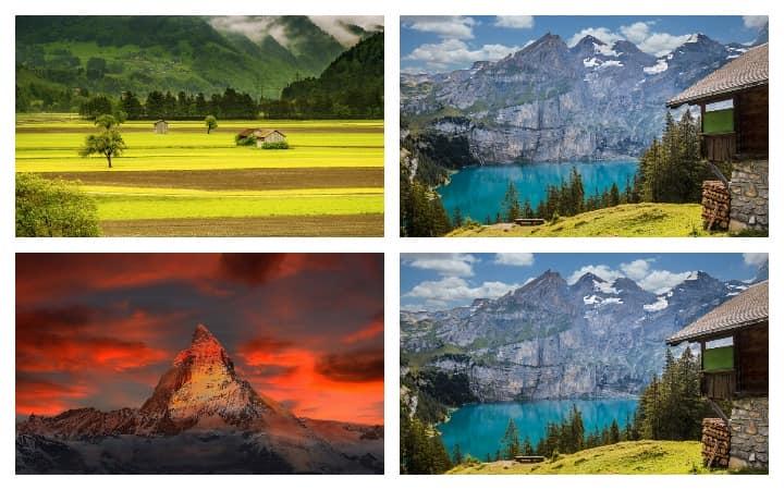 Швейцария природа и горы