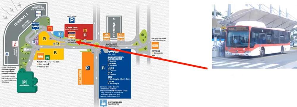 Схема аэропорта Неаполя
