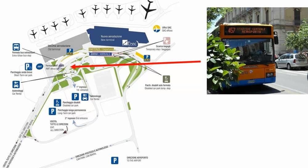 Схема аэропорт Катания