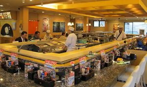 Ресторан суши в Японии