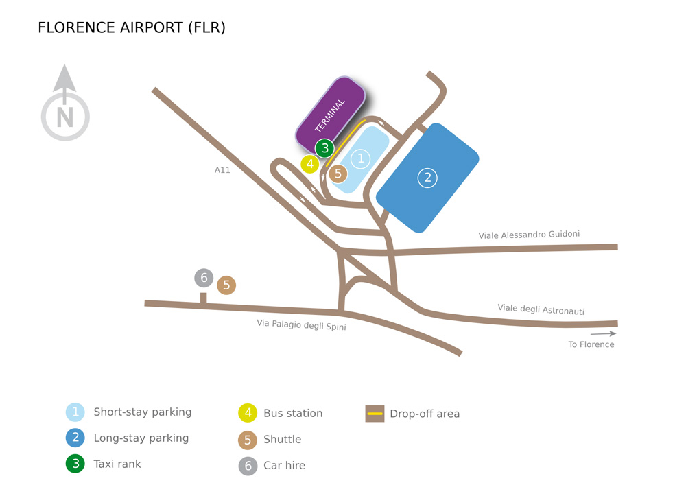 Схема аэропорта Флоренции