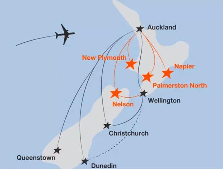 Перелеты по Новой Зеландии