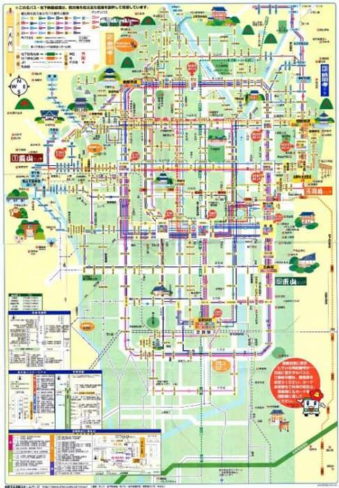 Автобусные маршруты Киото