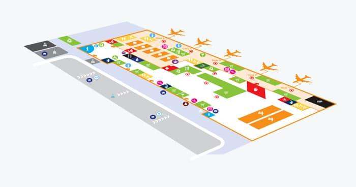 Схема аэропорта Ольбия