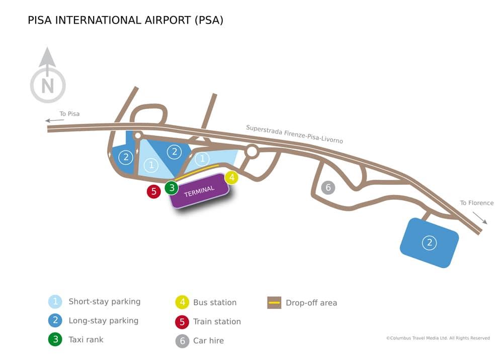 Схема аэропорта Пизы