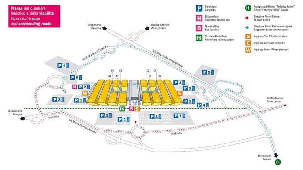 Схема аэропорта Римини
