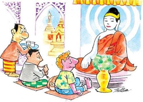 Ноги на Будду