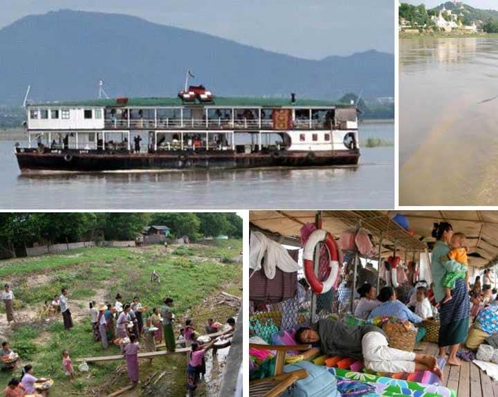 Местная лодка Мьянма