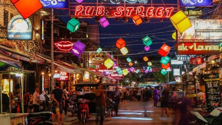 Улица Pub Street Камбоджа