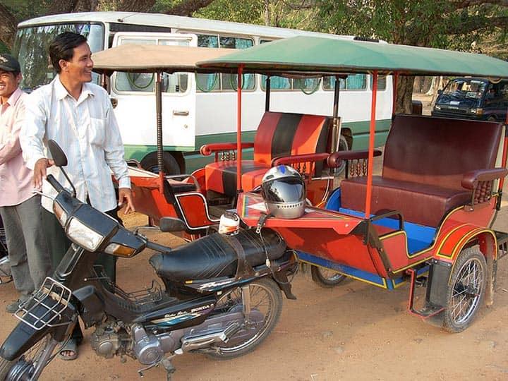 Водитель тук-тука Камбоджа