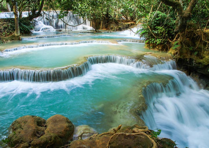 Водопады Kuang Si Falls