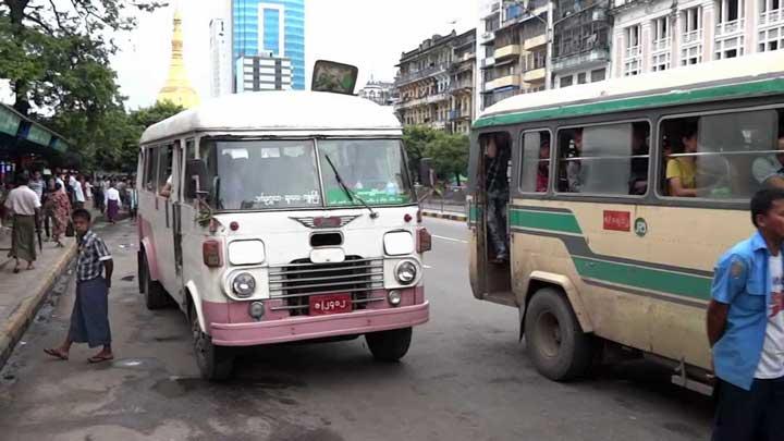 Мьянма сельский автобус