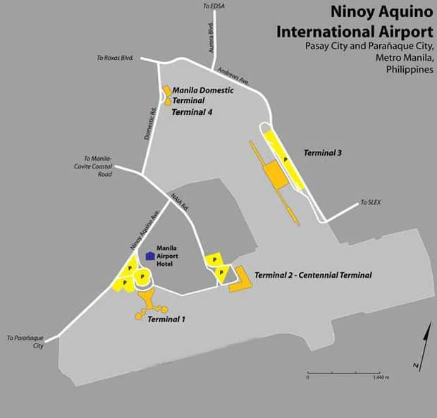 Схема аэропорта Манилы