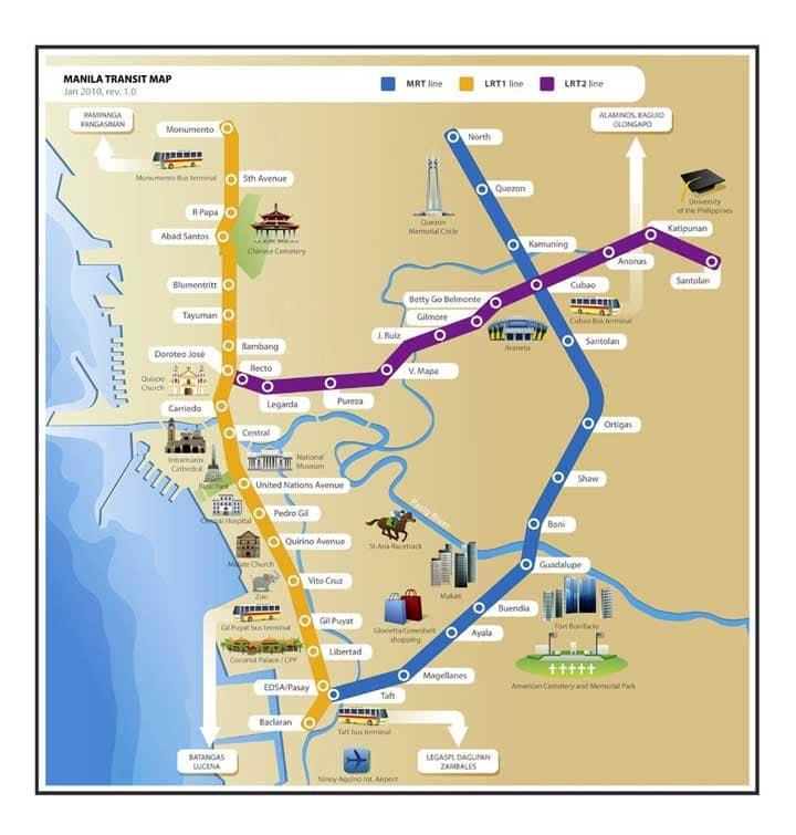 Схема метро Манилы