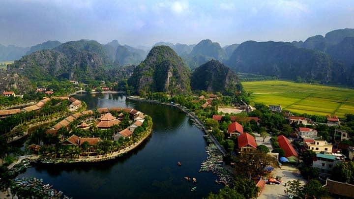 чудо природы Tam Coc