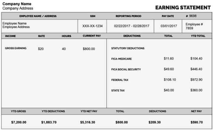 Выписка по зарплате